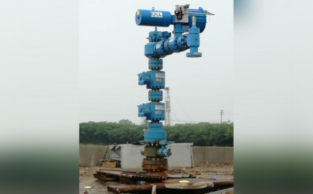 Well heads for underground gas storage, API 5000, spring return pneumatic actuator for wing valves, China