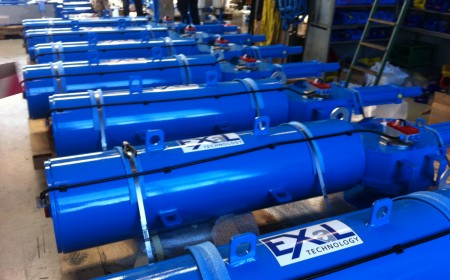 Hydraulic scotch yoke spring return actuators for master valves for underground gas storage in Germany